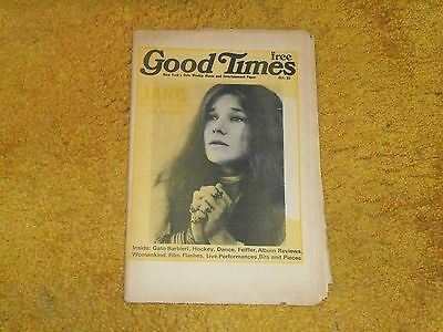 Janis Joplin on cover-GOOD TIMES mag/nwspp.10/23/73 28 pp. w/3-pp article (VG+)