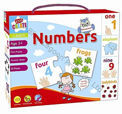 Learn Numbers Childrens Educational Learning Puzzle Jigsaw Mix & Match Game