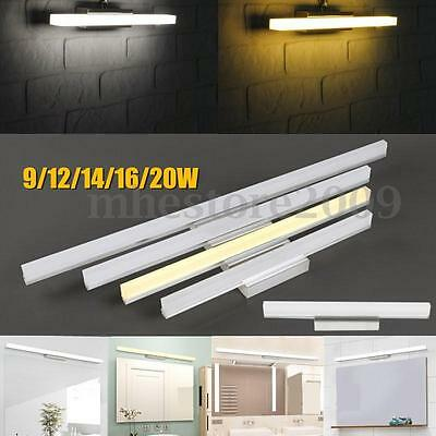 12/14/16/20W LED Modern Bathroom Wall Light Makeup Mirror Front Lamp Waterproof