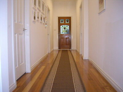 Hall Runner Rug 5 Metres Long Patterned Designer Brown FREE DELIVERY