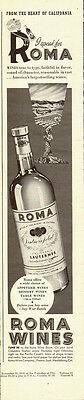 1945 vintage beverage AD for ROMA California Wine 031415