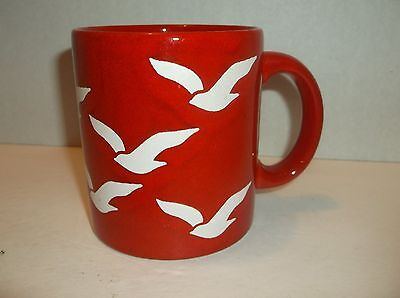 Waechtersbach Red Seagulls Coffee Mug West Germany Birds