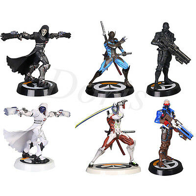 25cm Game OverWatch Genji Tracer Reaper Action Figure Decoration Collectible Toy