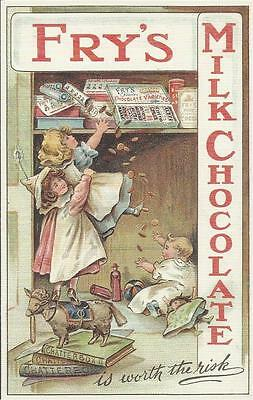 Advertising Postcard - FRY`S MILK CHOCOLATE - IS WORTH THE RISK