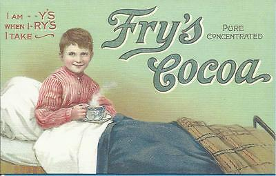 Advertising Postcard - FRY`S COCOA - BOY IN BED