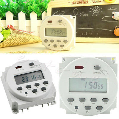 LCD Digital Power Programmable Timer AC 12V 16A 220VAC Time Relay Switch