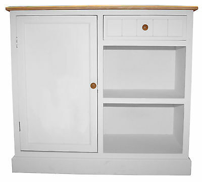 Charles Bentley White Traditional Country Kitchen Sideboard Storage Cabinet