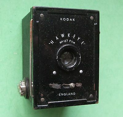 KODAK BABY HAWKEYE BOX CAMERA - 127 film -  1936- Boxed