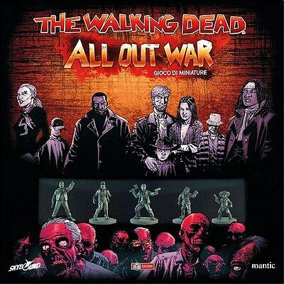 THE WALKING DEAD : ALL OUT WAR Gioco da Tavolo di Miniature Italiano MS Edizioni