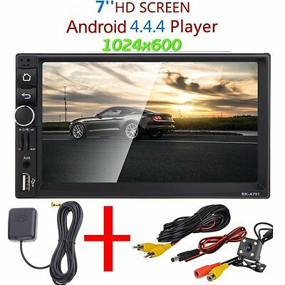 "Universal GPS Android 4.4 HD 7"" 2 DIN CAR STEREO MP3 MP5 PLAYER BLUETOOTH FM/USB"