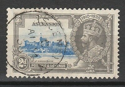 Ascension 1935 Kgv Silver Jubilee 2D Used