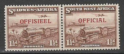 South West Africa 1945 Train Official 11/2D Pair