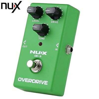 New NUX OD - 3 Vintage Overdrive Booster Chitarra Effect Pedal Aluminum Alloy
