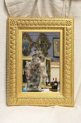 Mirror Rectangular, Period Beginning '900, Wood Carved And Golden / Mirrors