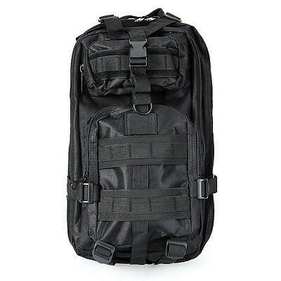 30L Outdoor Military Tactical Bag Camping Hiking Trekking Backpack Pouch Black