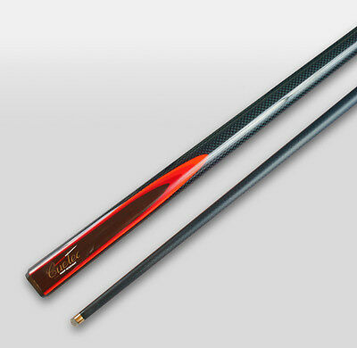 REAL Cuetec Graphite Pool Snooker Billiard Cue Blue with Red flame Quality