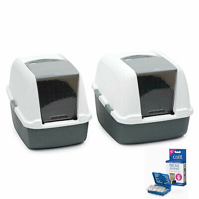 Catit Magic Blue Hooded Litter box Regular or Jumbo