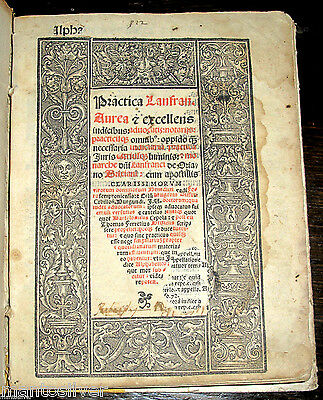 1541 CRIMINAL Law POST INCUNABLE Latin CANON Legal ROMAN Ancient TRIAL PRACTICE