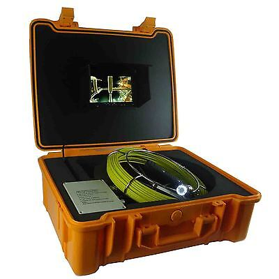 80m Drain Sewer HD Snake Pipe Video Inspection Camera System with 7 Inch Monitor
