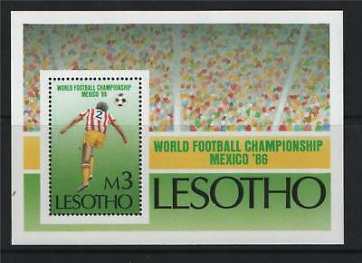 Lesotho 1986 World Cup MS SG 690 MNH