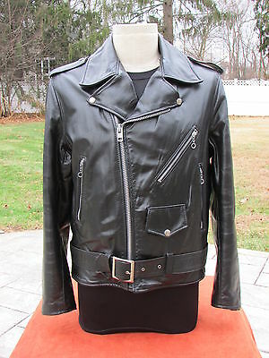 Ultra Rare 60s 70s Vintage Mark & Gregory Black Leather Motorcycle Jacket USA