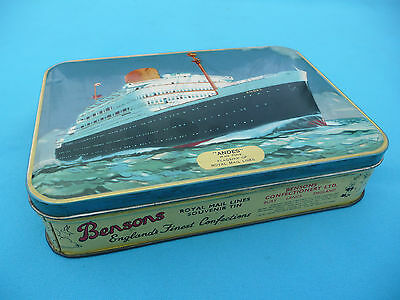 Blech Dose ANDES FLAGSHIP OF ROYAL Englands Finest Confection Bensons Schiff