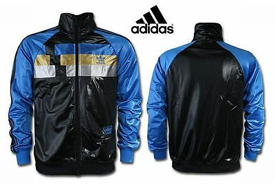 ADIDAS ORIGINALS HERREN TRAININGS JACKE Chile 62 schwarz / blau XS SPORT FITNESS