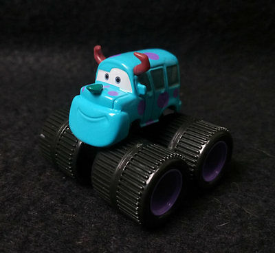 Rare Mattel Disney Pixar Cars Sulley Monster Trucks Inc. 1/55 Diecast