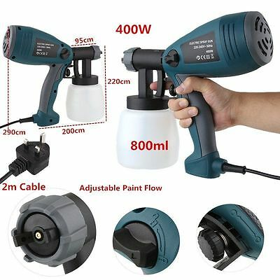 400W Paint Sprayer Spray System Electric Gun Painting Fence Bricks IN/Outdoors