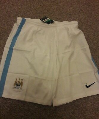 Brand new nike manchester city home shorts 2015-16 size xl