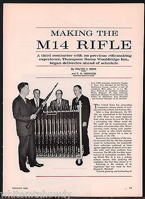 1963 Making the M14 RIFLE 7 & 1/2 page Article