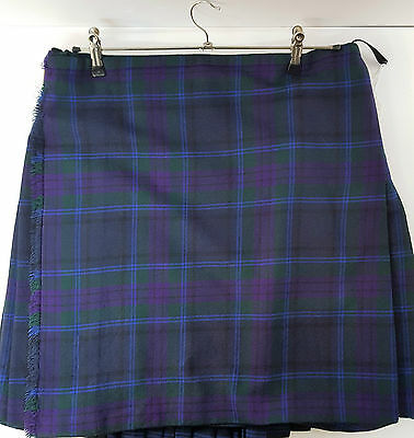 "Ex Hire 32"" waist 23""drop Spirit Of Scotland 6 Yard Wool Kilt A1 Condition"