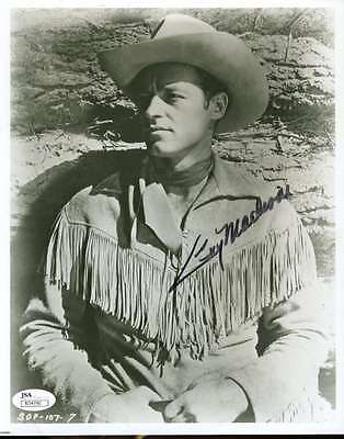 Guy Madison Cowboy Signed Jsa Certified 8X10 Photo Authenticated Autograph
