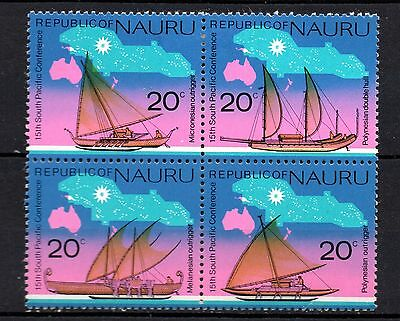 Nauru (127) 1975 South Pacific Commisson Conf. set on unmounted block Sg 133-6