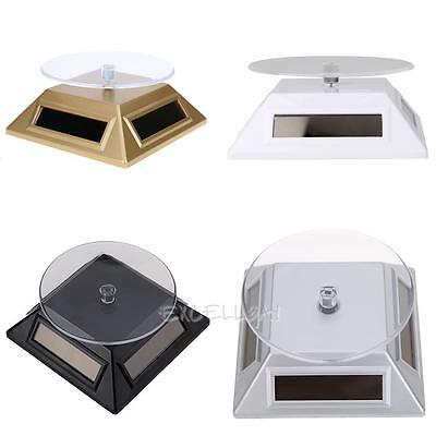 Solar 360 Turntable Rotating Showcase Jewelry Watch Display Stand Mount Holder