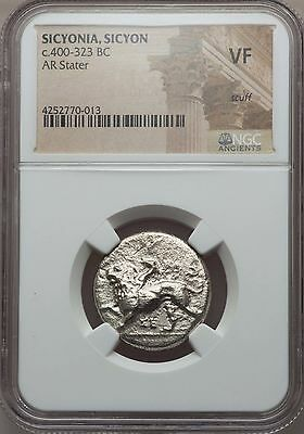 SICYONIA. Sicyon. Ca. 400-323 BC. AR stater. NGC VF scuff