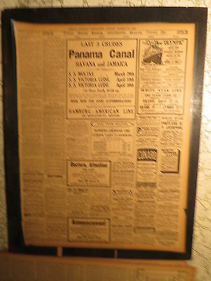 Titanic Sister Ship Olympic Newspaper 1913 NEW FITTED WITH DOUBLE SIDES BULKHEAD