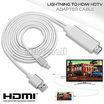 8 pin 2M Lightning to HDMI HDTV AV Cable Adapter For iPhone 6 6s Plus 5S 7 iPad