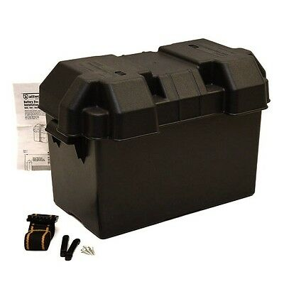Attwood Boat Battery Box 9067-1   Carver/Marquis Black 16 7/8 x 9 5/8 x 10 7/8