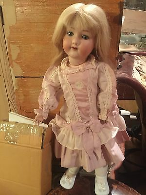 """Antique German A.M.390,21""""doll,bisque Head,compo Body, She's A Real Beauty,VGC"""