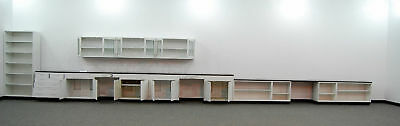 38' - Fisher Hamilton Steel Lab Cabinets with 12' Uppers --