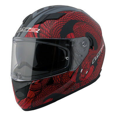 LS2 Stream Snake Full Face Motorcycle Helmet