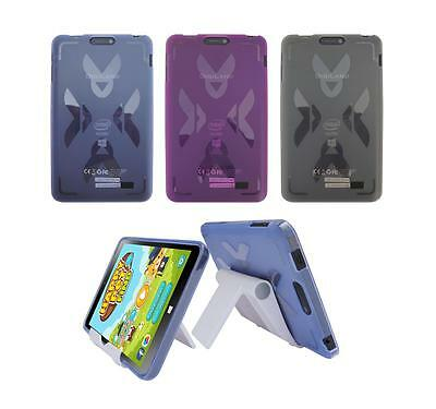 """View Stand Holder + TPU Gel Skin Case Cover for DigiLand 8"""" DL801W Tablet"""