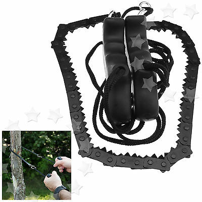 Survival Chain Saw Hand ChainSaw Outdoor Emergency Camping Kit Tool 48cm