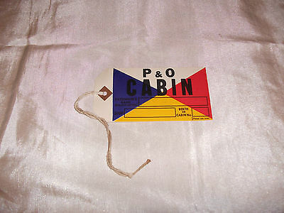 Vintage Original P & 0 Cabin Cardboard Label Vg Liner Ferry Cruise Ship And