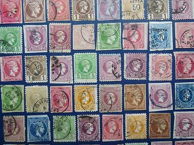 GREECE. x 48. mixed ANCIENT stamps.