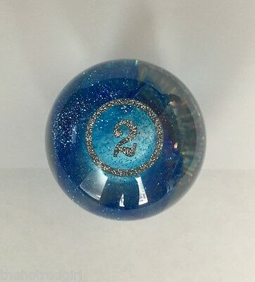 Pool Ball Gear Shift Knob #2 Blue Sparkle - Hot Rod - Hard to Find