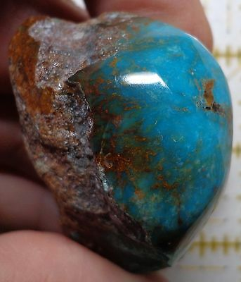 WRG- High Quality TURQUOISE Rough Kingman Arizona Mine Stabilized 2.3 Ounce