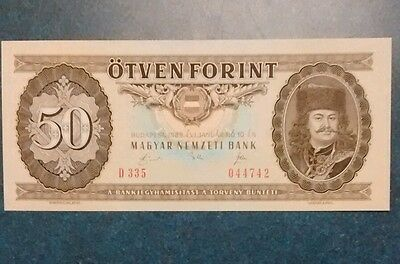 1989- Hungray 50 Forint Note ,Unc.