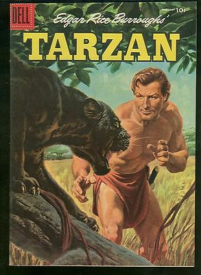 Tarzan 77 NM 1950s Dell Comics Painted cover